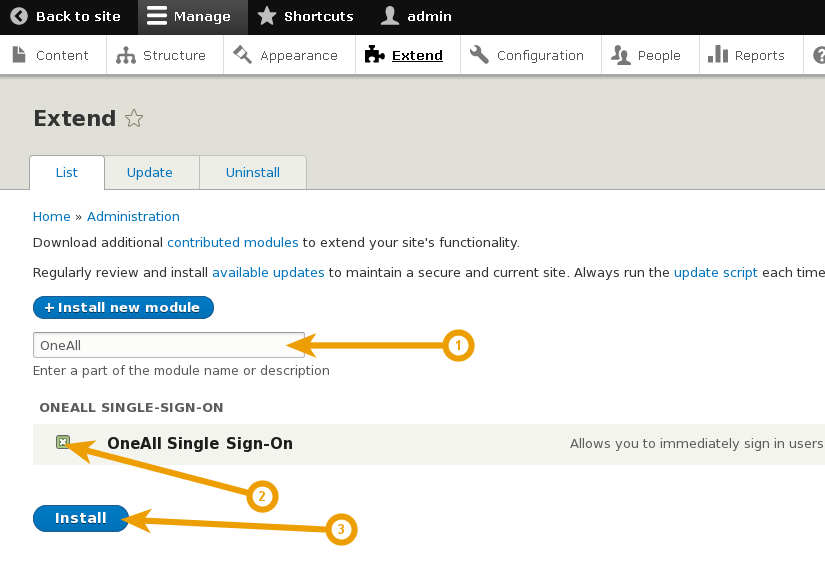 Drupal 8 - Install Single Sign-On