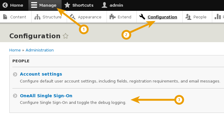 Drupal 8 - Setup Single Sign On