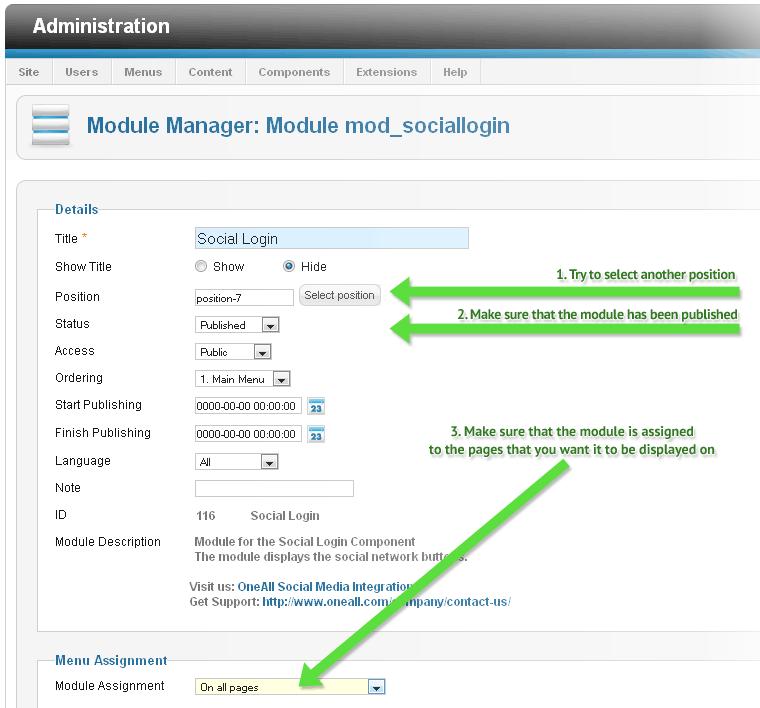 Joomla Social Login Enable Module