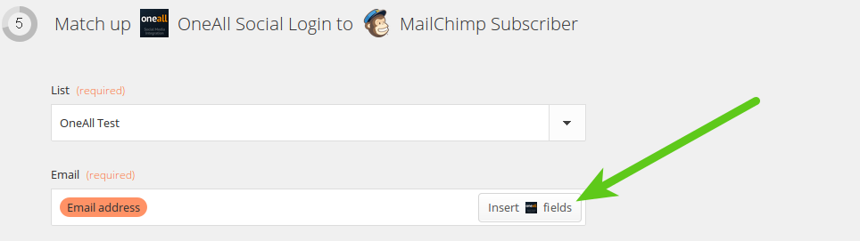 OneAll MailChimp